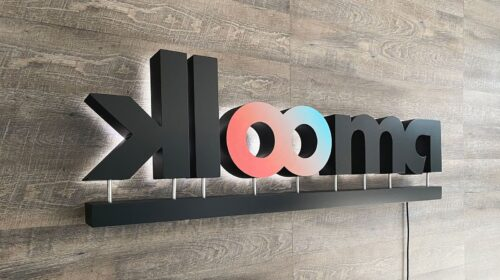 Klooma backlit office signs