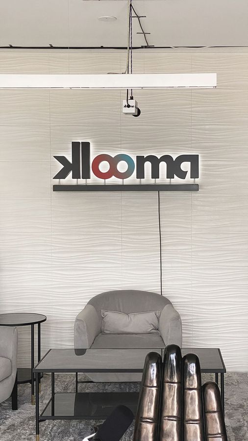 Klooma reverse channel letters