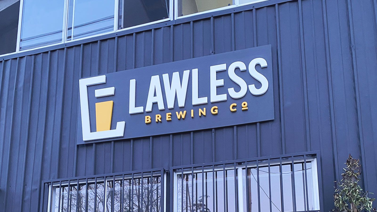 Lawless brewing 3D sign