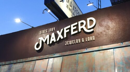 Maxferd storefront channel letters