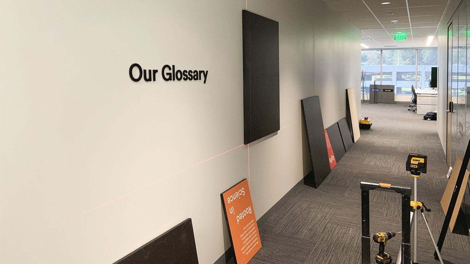 Neutrogena Interior signs installation