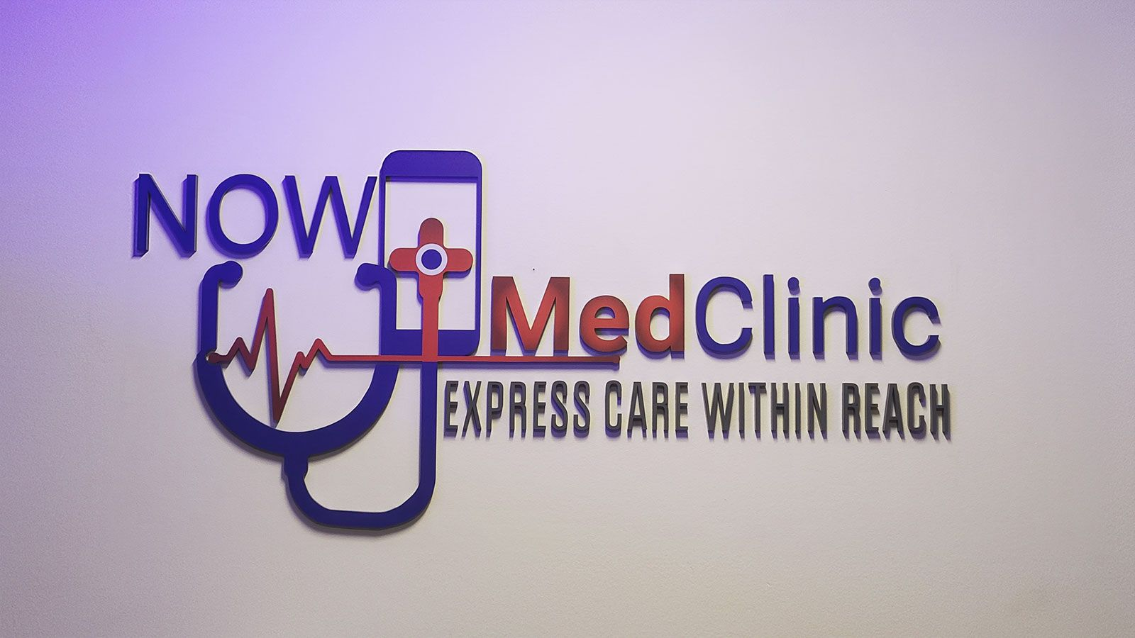 Now Med Clinic 3D letters
