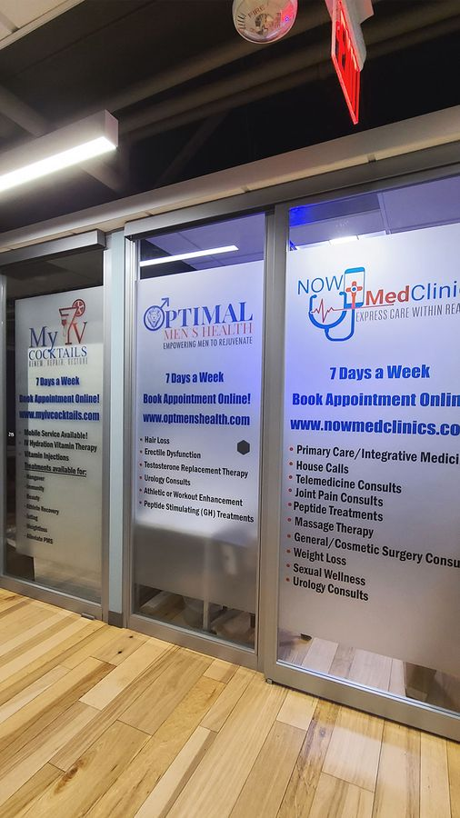 Now Med Clinic window decals