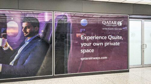 Qatar Airways promotional decals