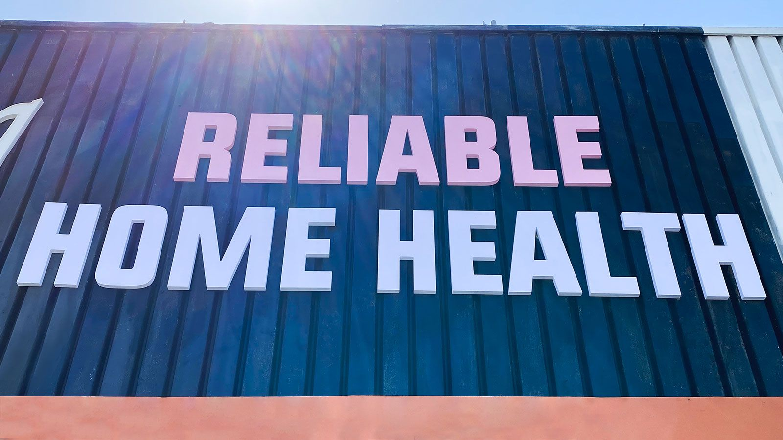 Reliable home health 3D sign