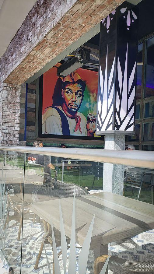 Restaurant decorative vinyl banner