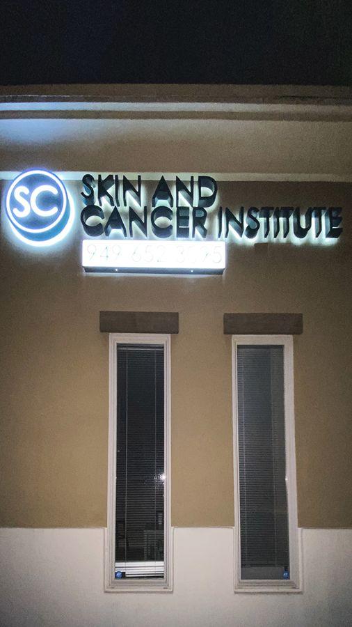 SC Institute backlit sign