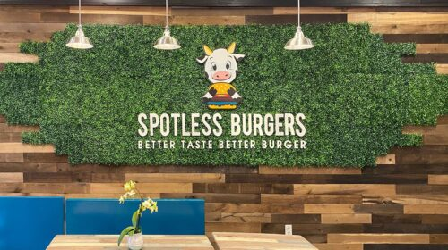 Spotless Burger 3D letters