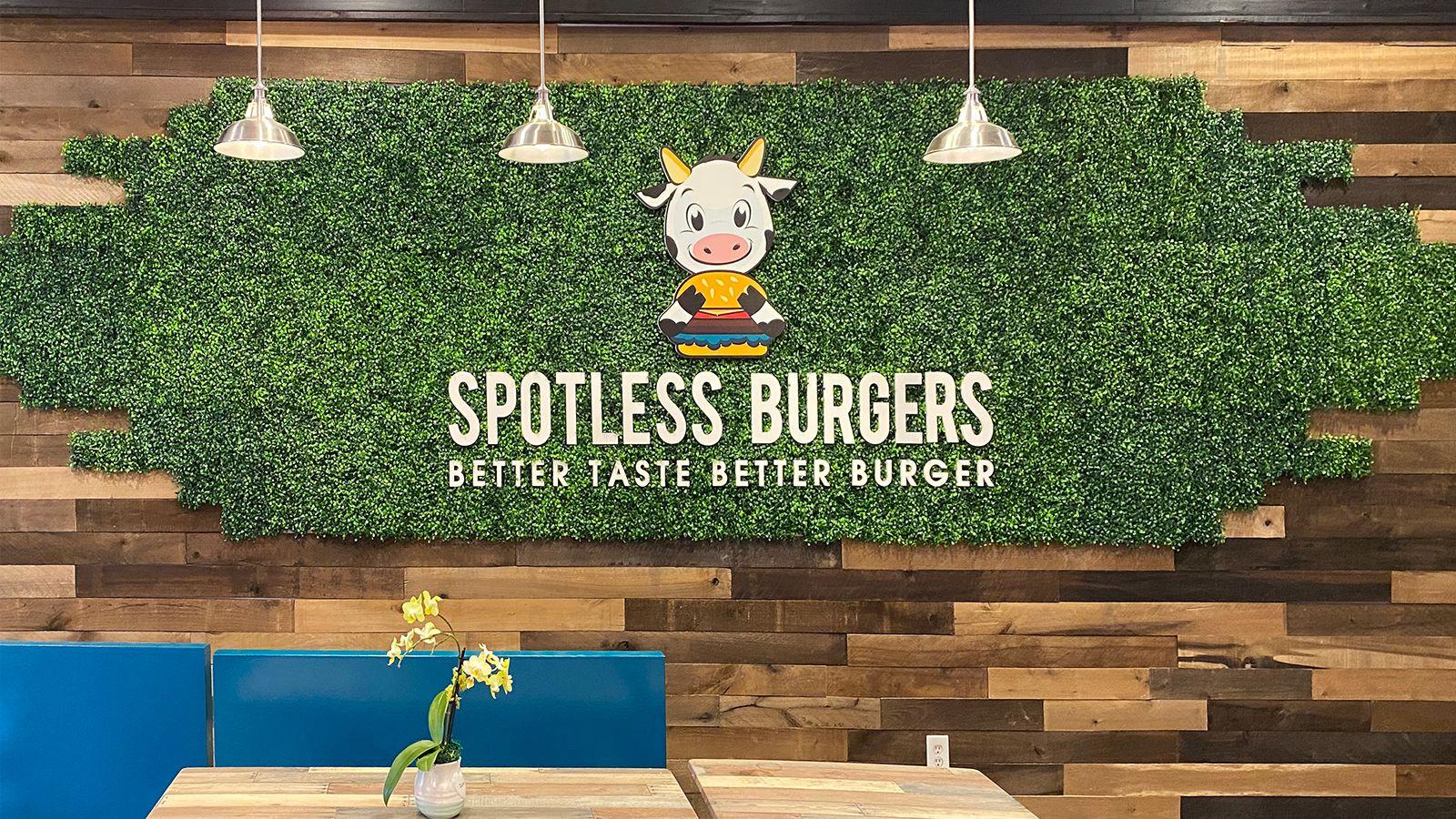 Spotless Burger 3D letters