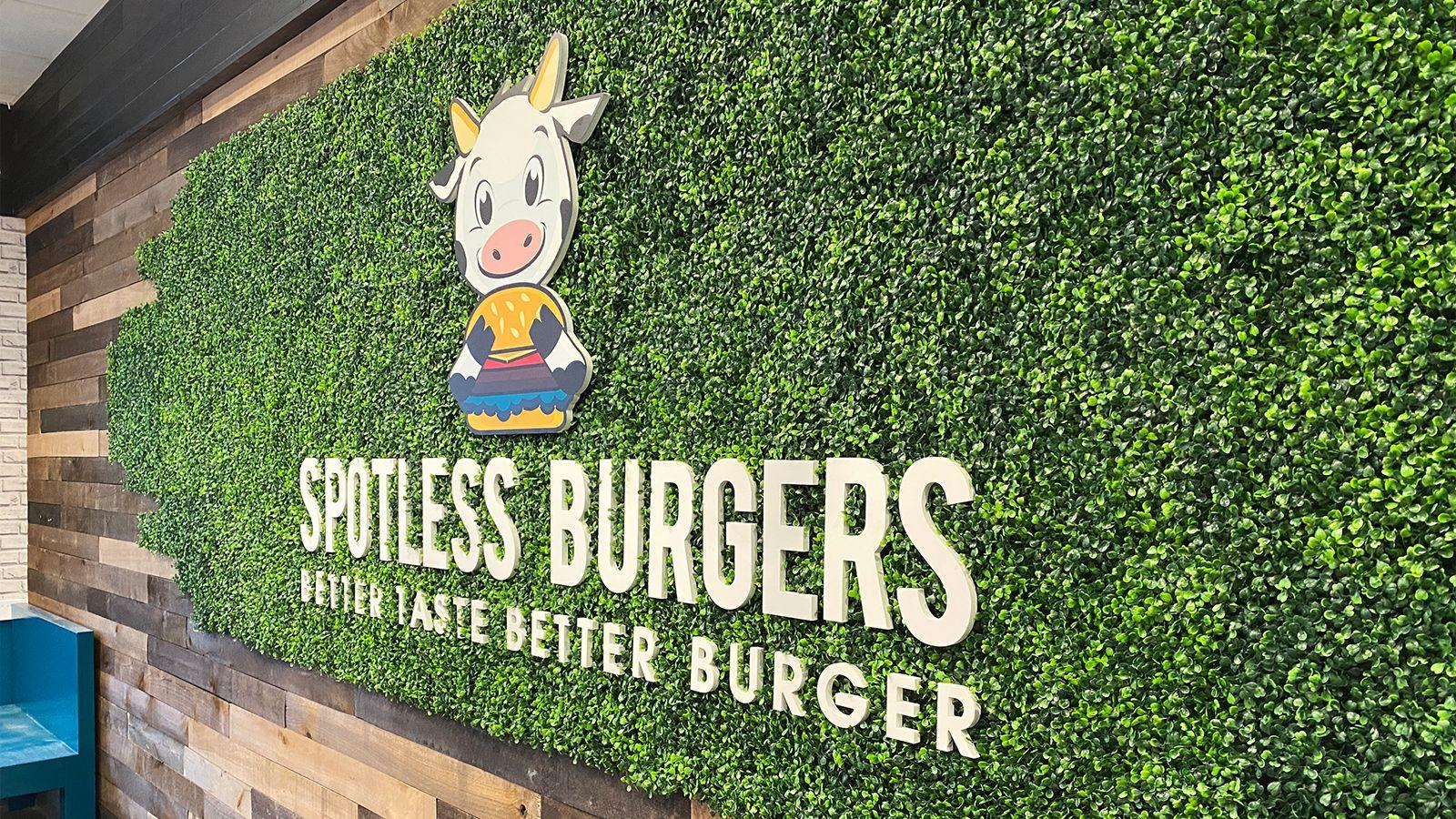 Spotless Burger PVC sign