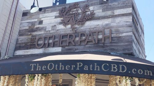 The other path acrylic sign