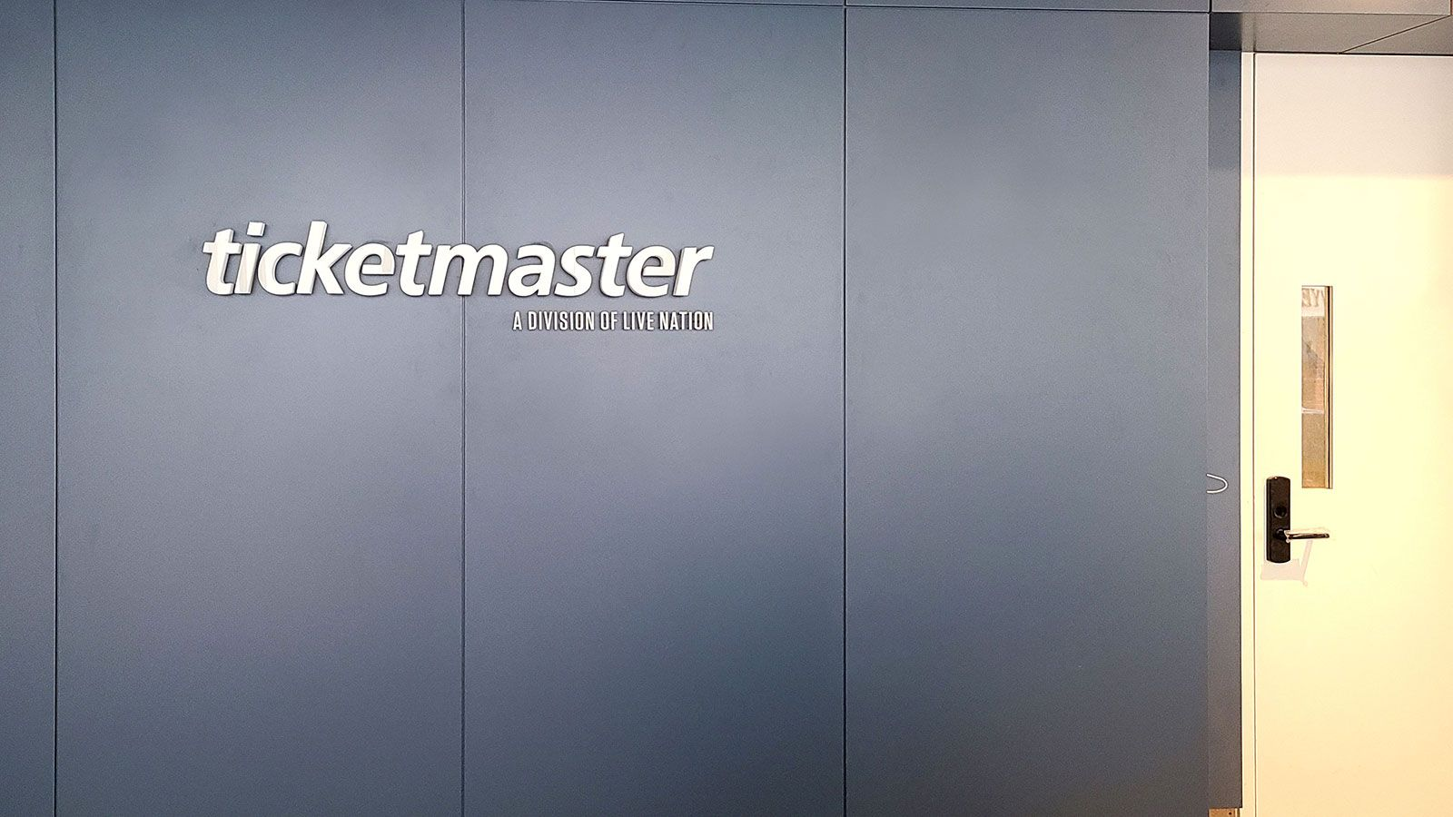Ticketmaster interior lighted letters