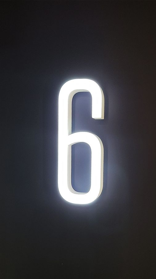Ticketmaster number lighted sign