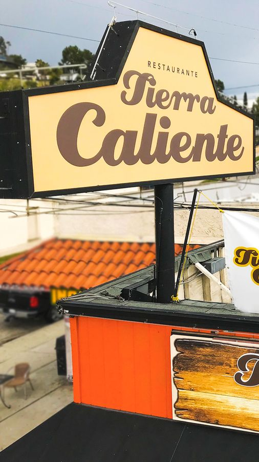 Tierra Caliente lighted signs