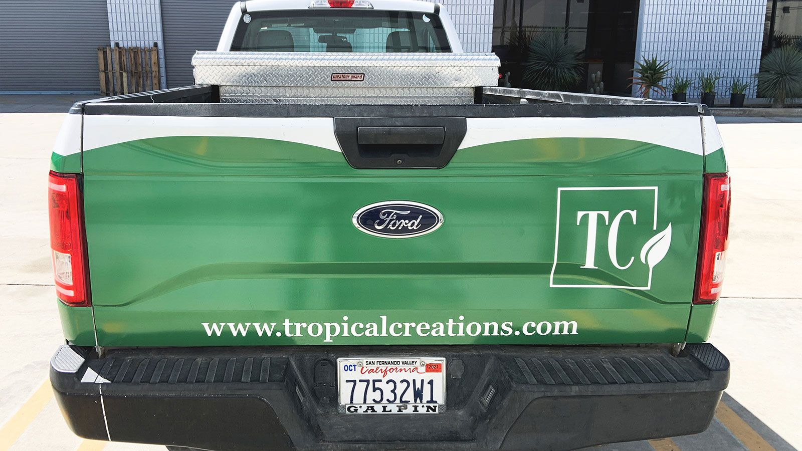 Tropical creations truck decals