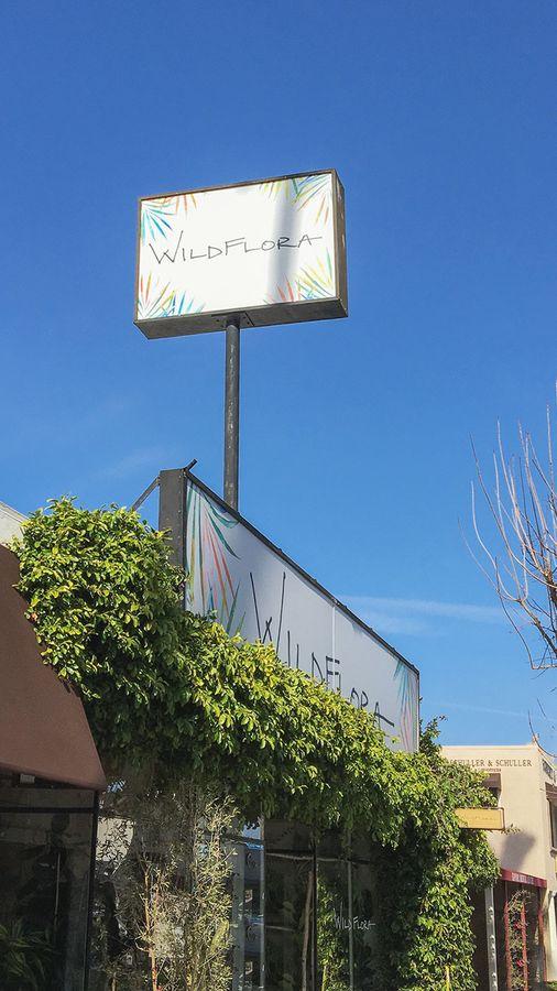 Wildflora design lightbox signs
