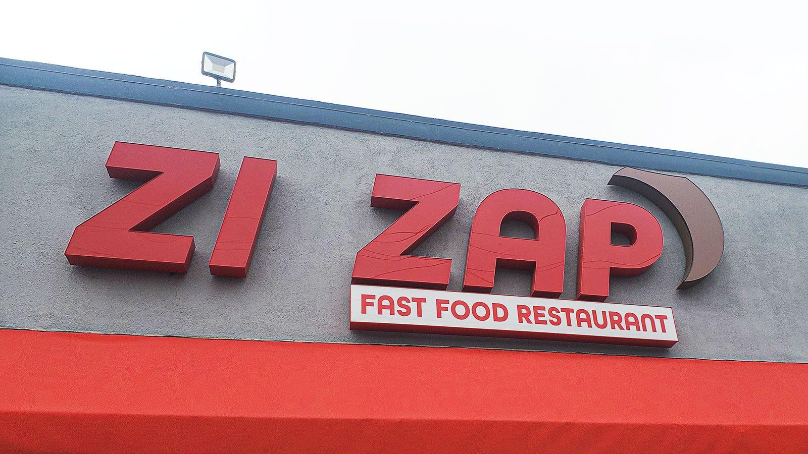 Zi Zap channel letters