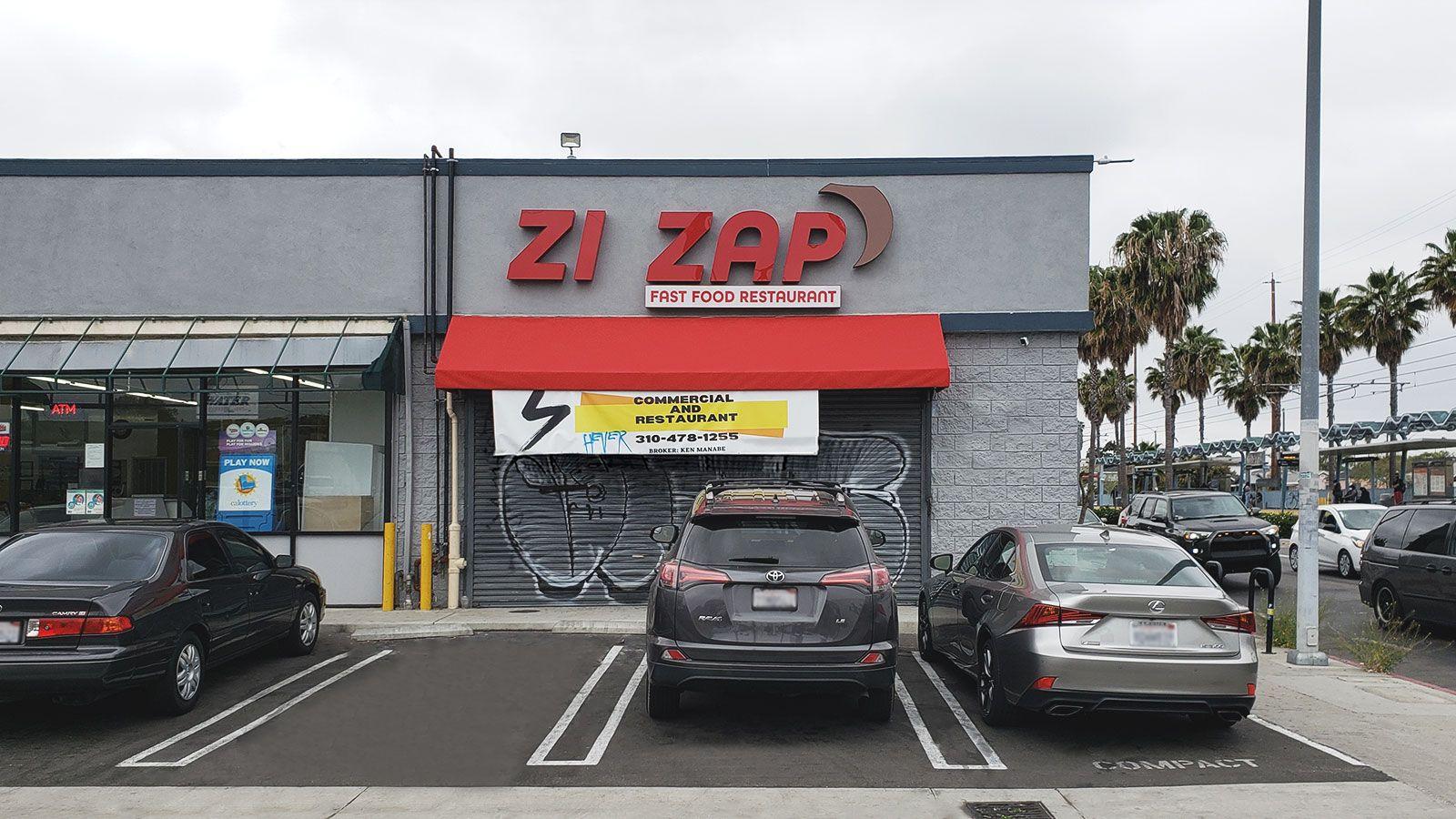 Zi Zap restaurant signs