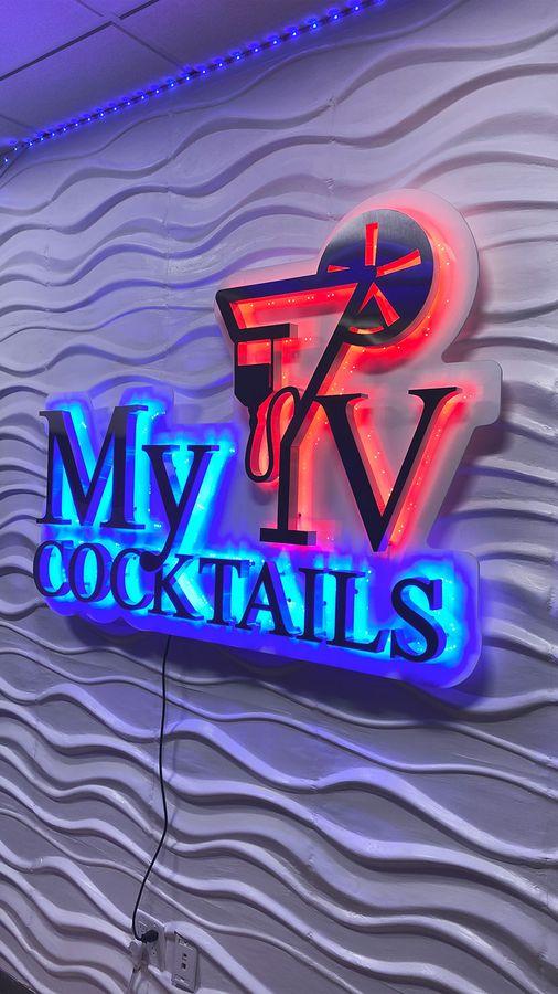 my cocktails backlit sign