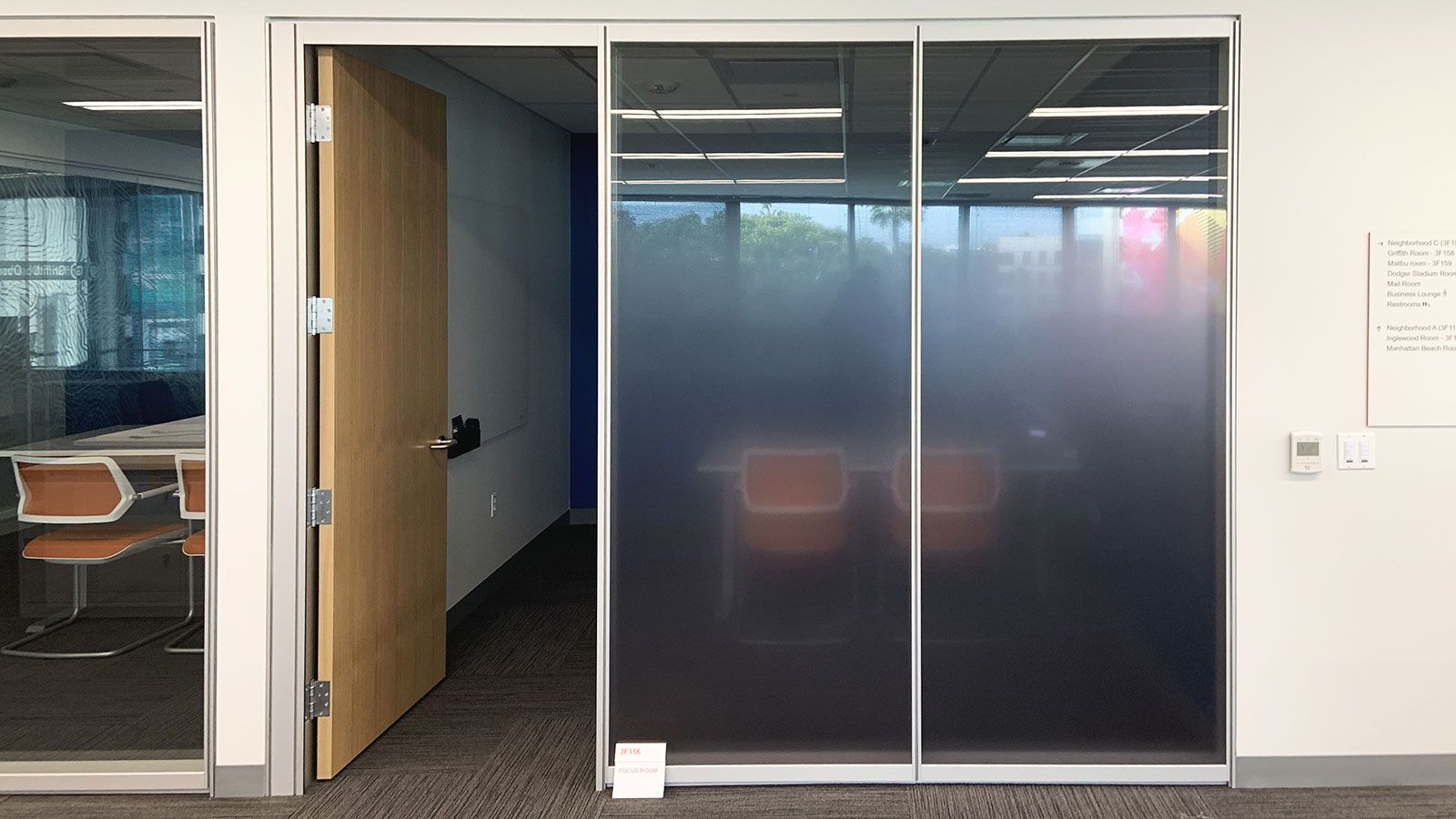 office interior frosted decals