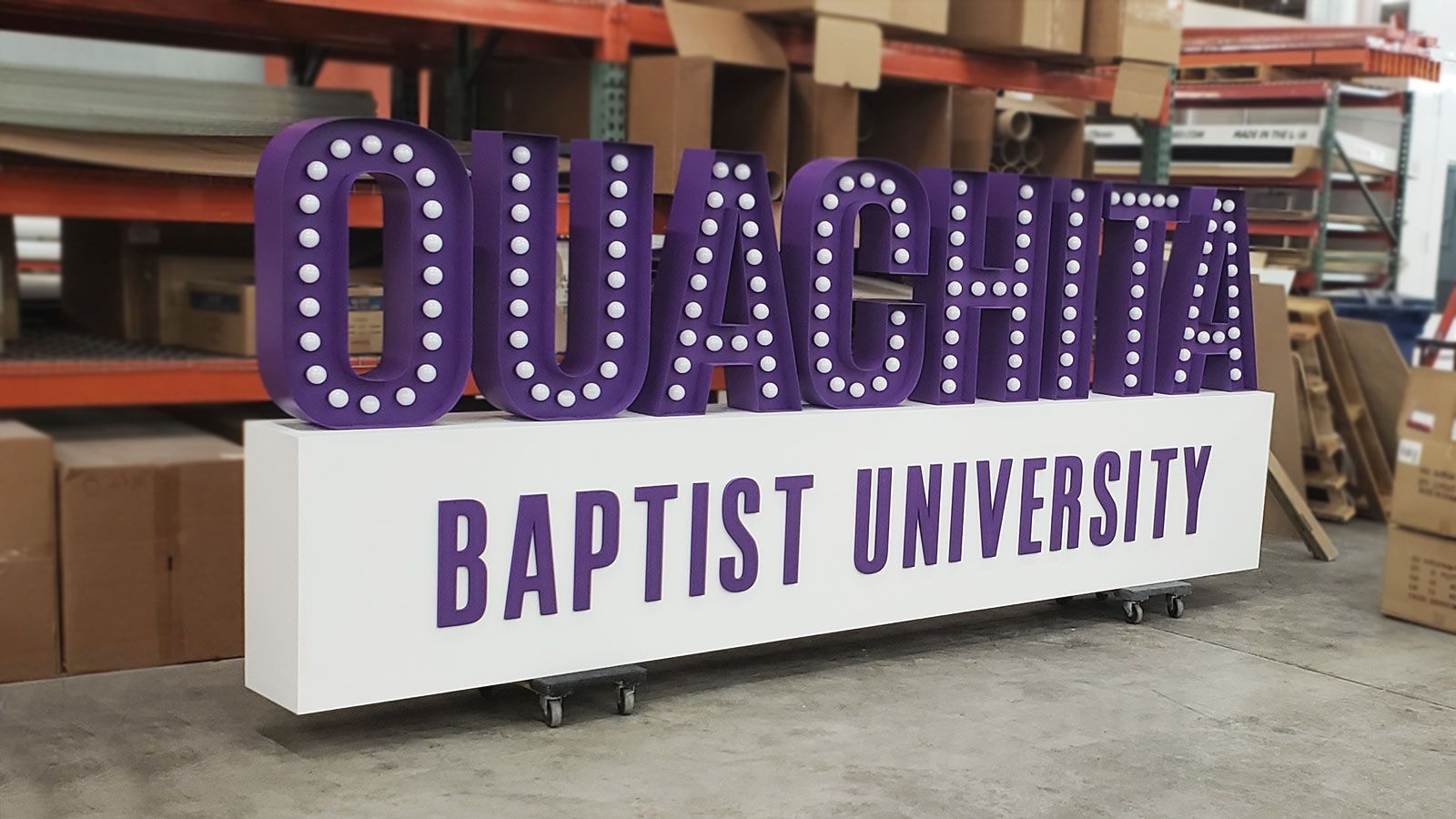 ouachita university marquee sign