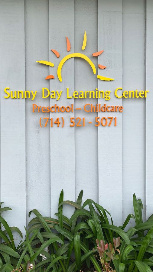 sunny day acrylic letters