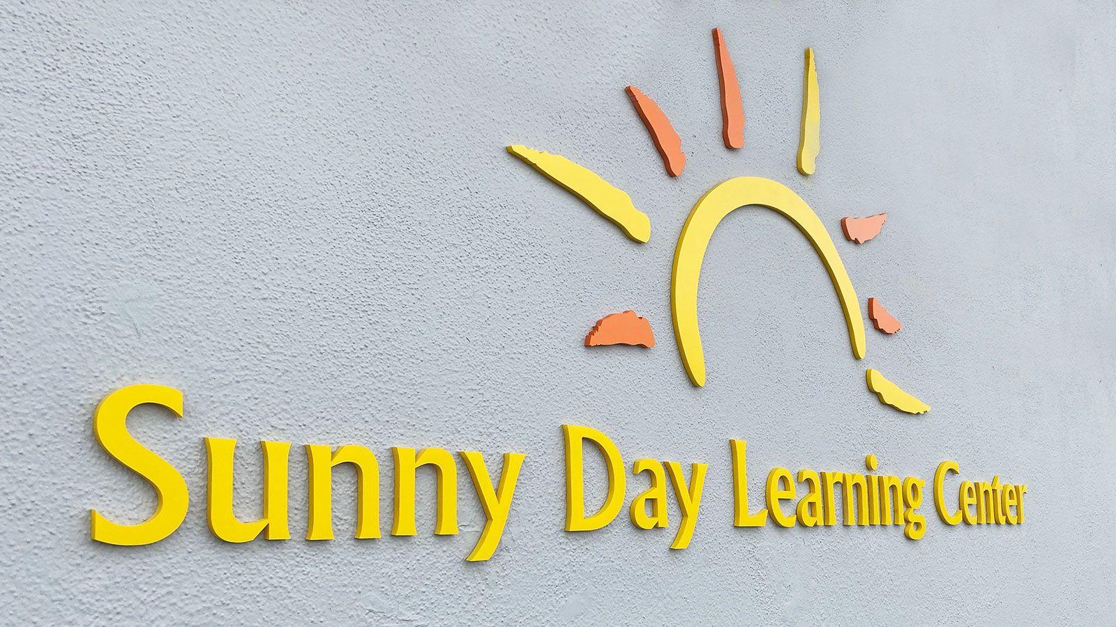 sunny day acrylic sign