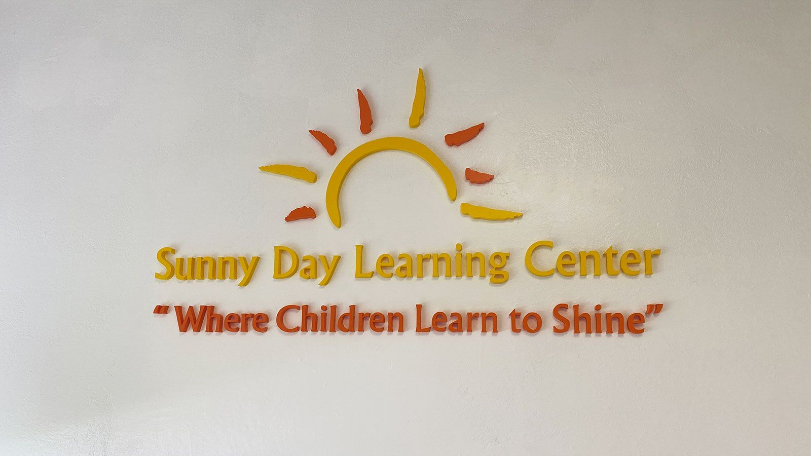 sunny day interior sign