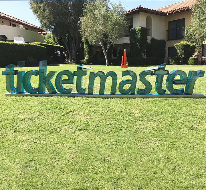 ticketmaster 3d letters stand