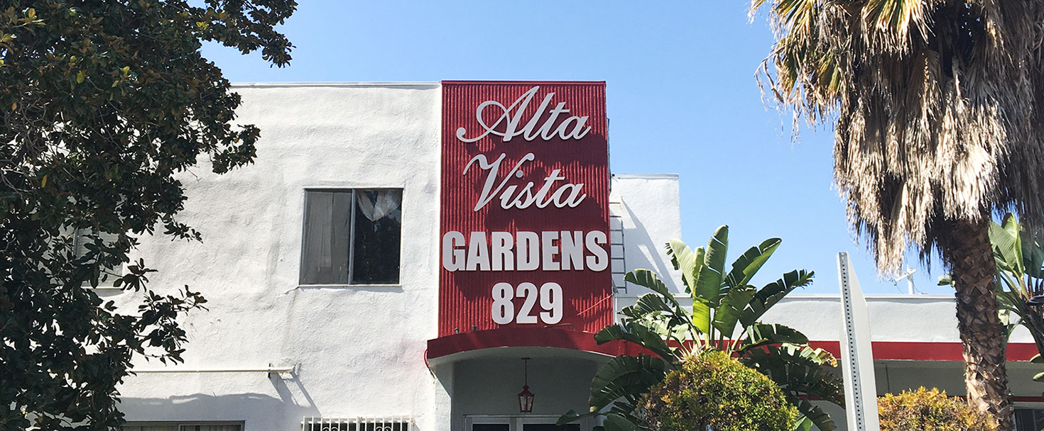 Alta Vista business building sign in a big size made of PVC