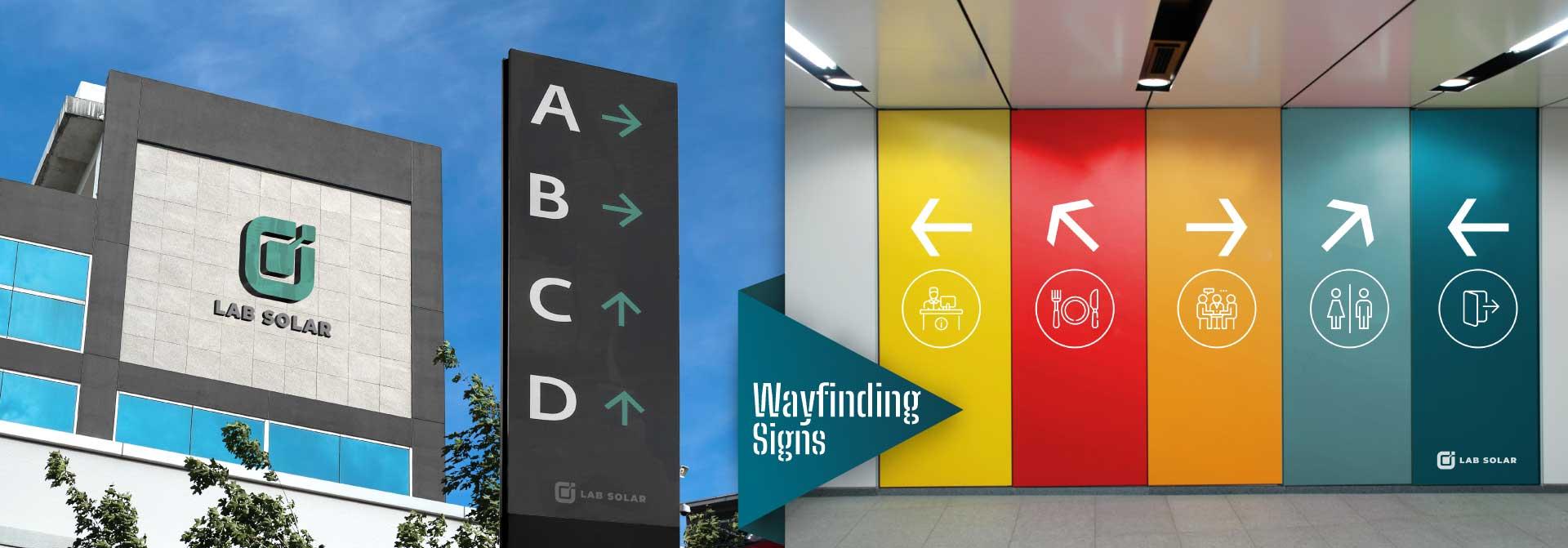 outdoor and indoor wayfinding signs