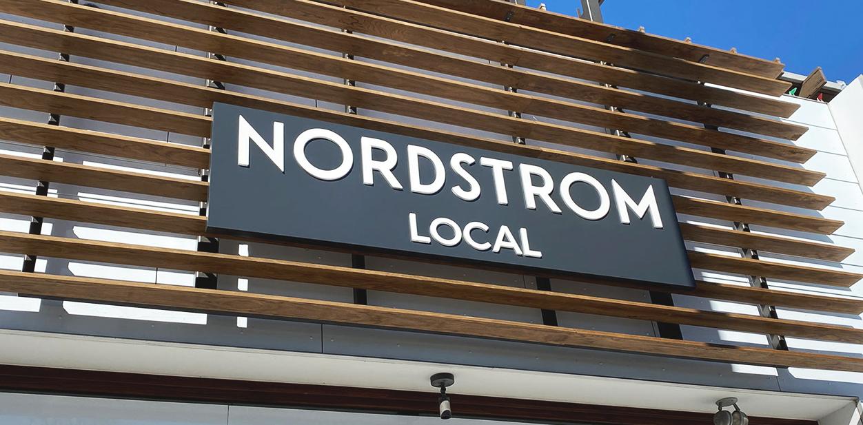 Nordstrom Local outdoor branding board in black