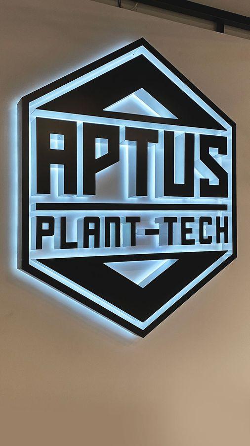 Aptus Plant-tech backlit sign