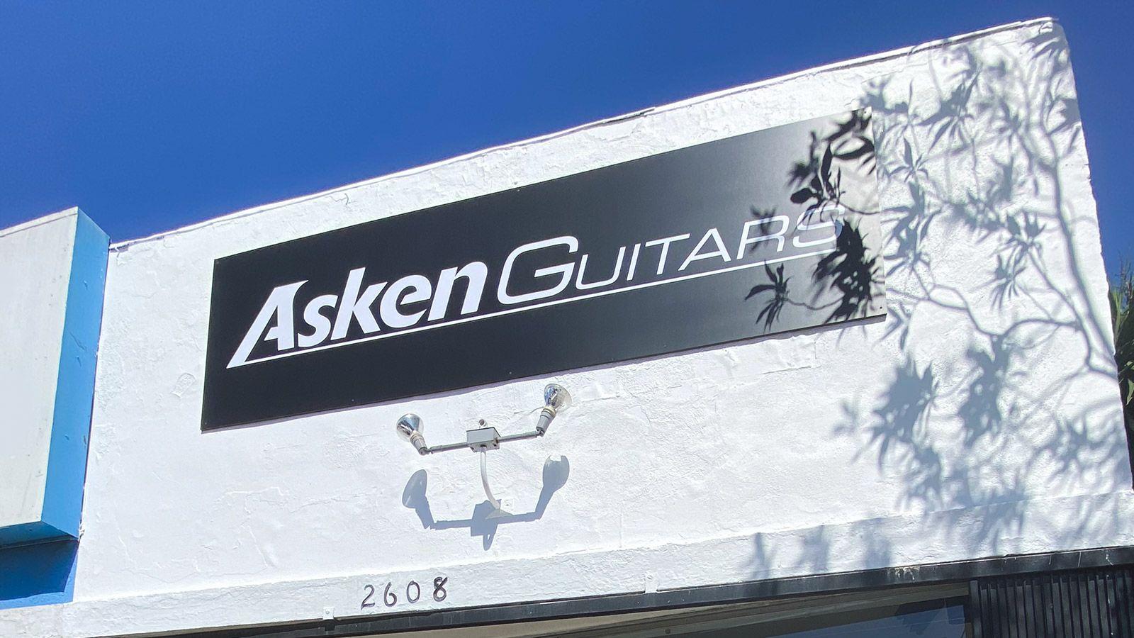 Asken guitars PVC sign