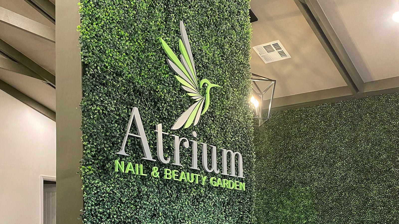 Atrium 3D letters
