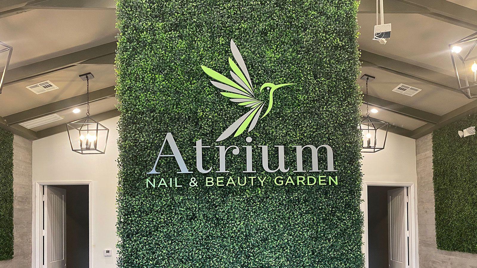 Atrium acrylic 3D letters
