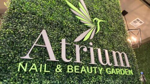 Atrium acrylic interior sign