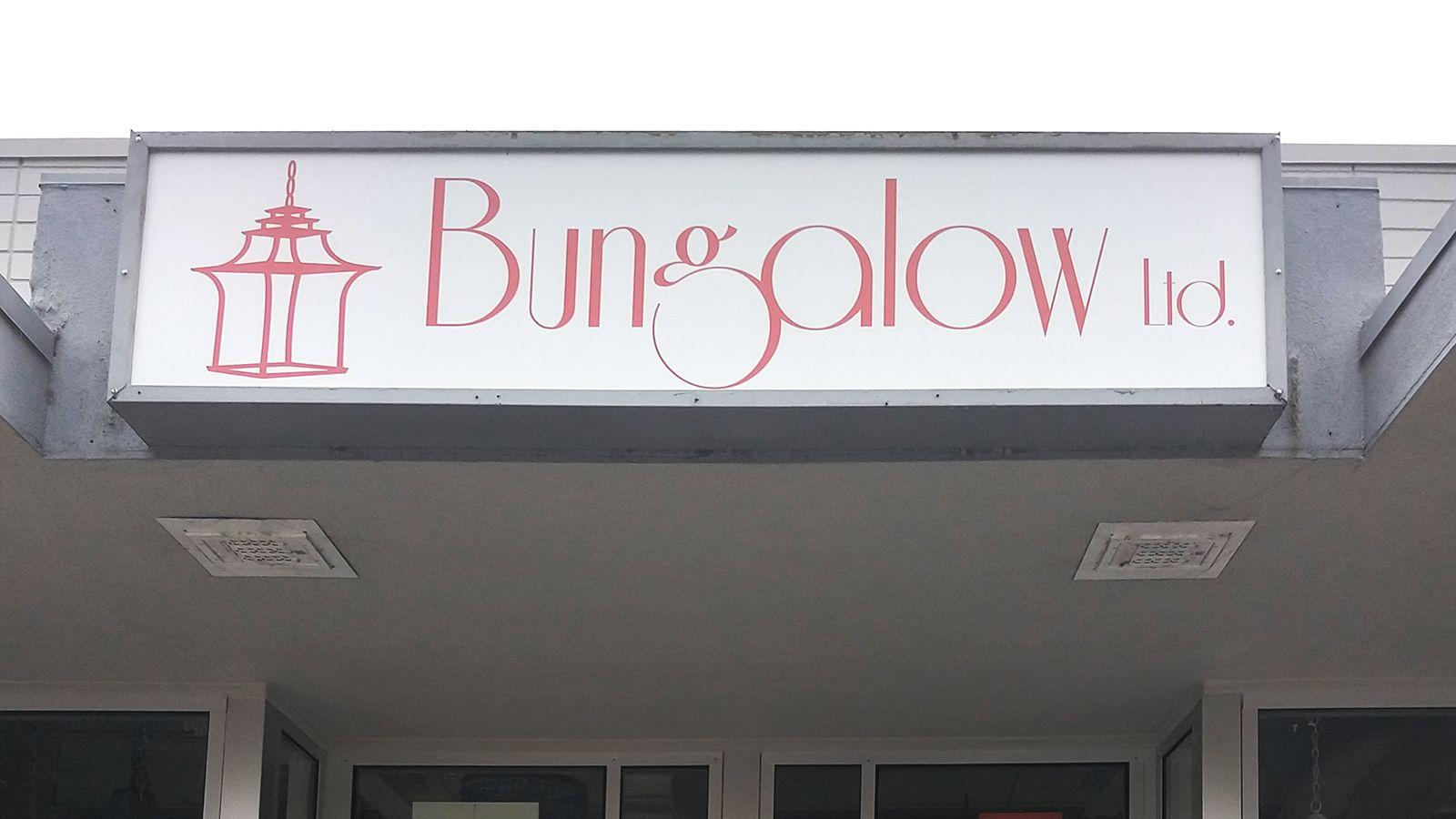 Bungalow ltd light box sign