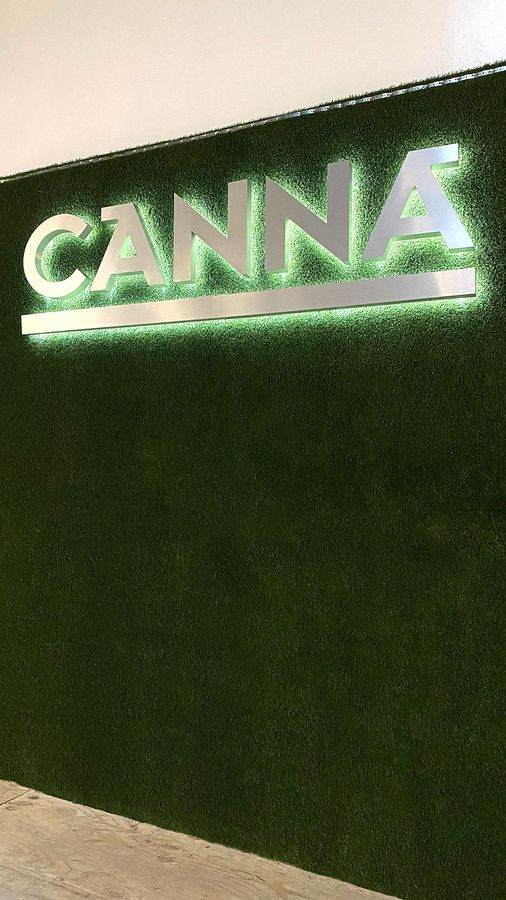 Canna reverse channel letters