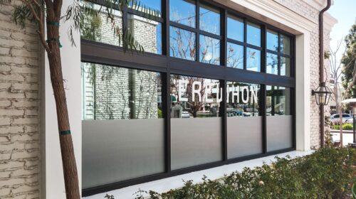 Erewhon store vinyl lettering