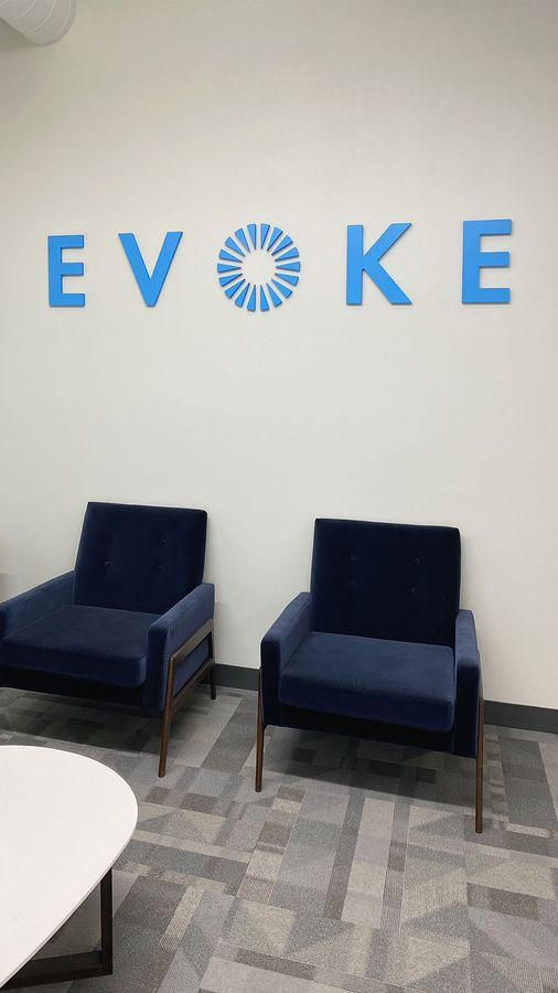 Evoke PVC 3D letters