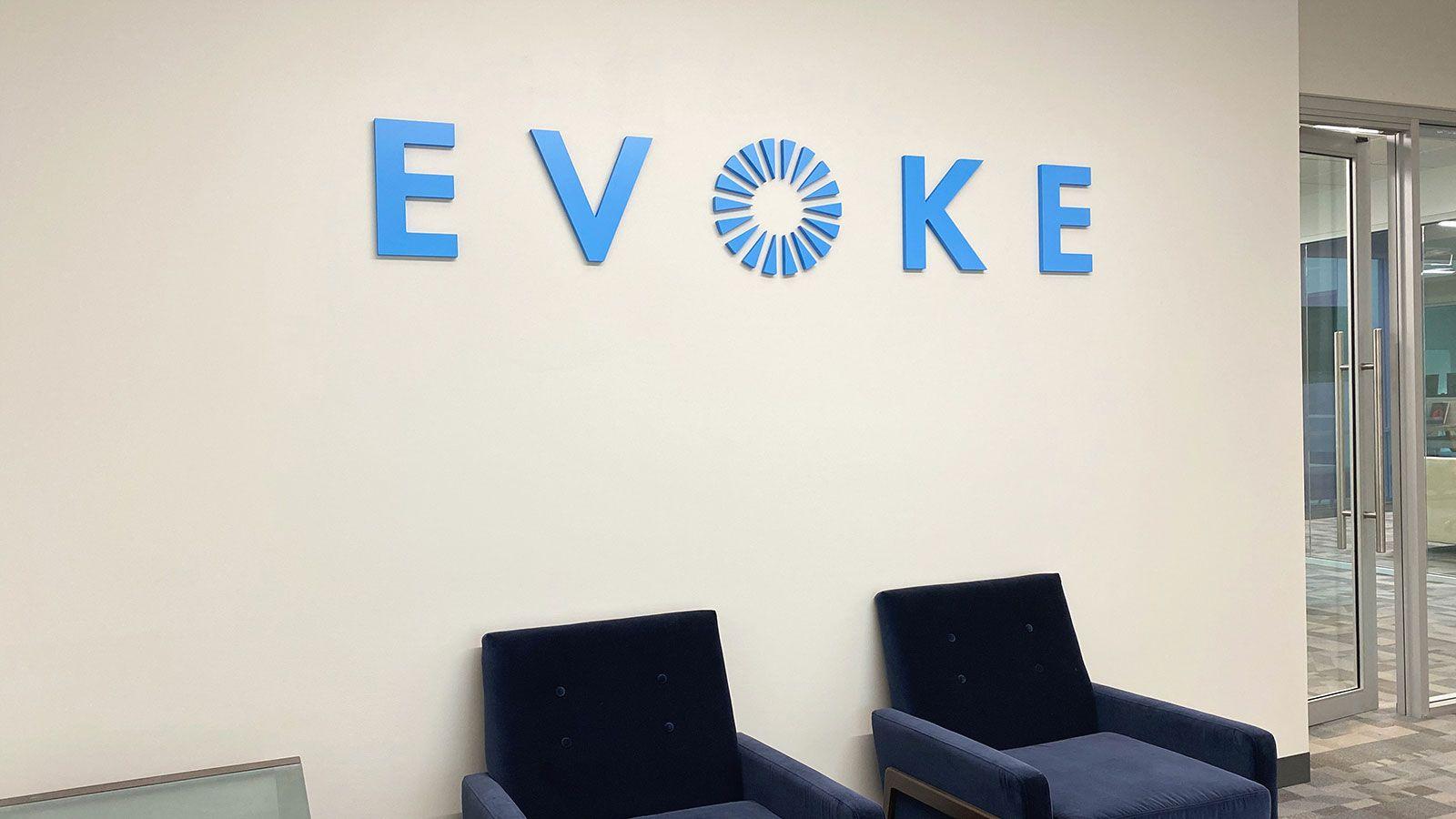 Evoke office 3D letters