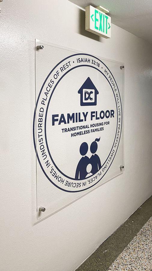 Family Floor acrylic Sign