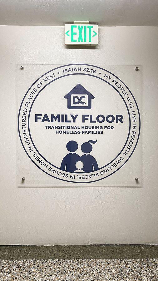 Family Floor vinyl lettering