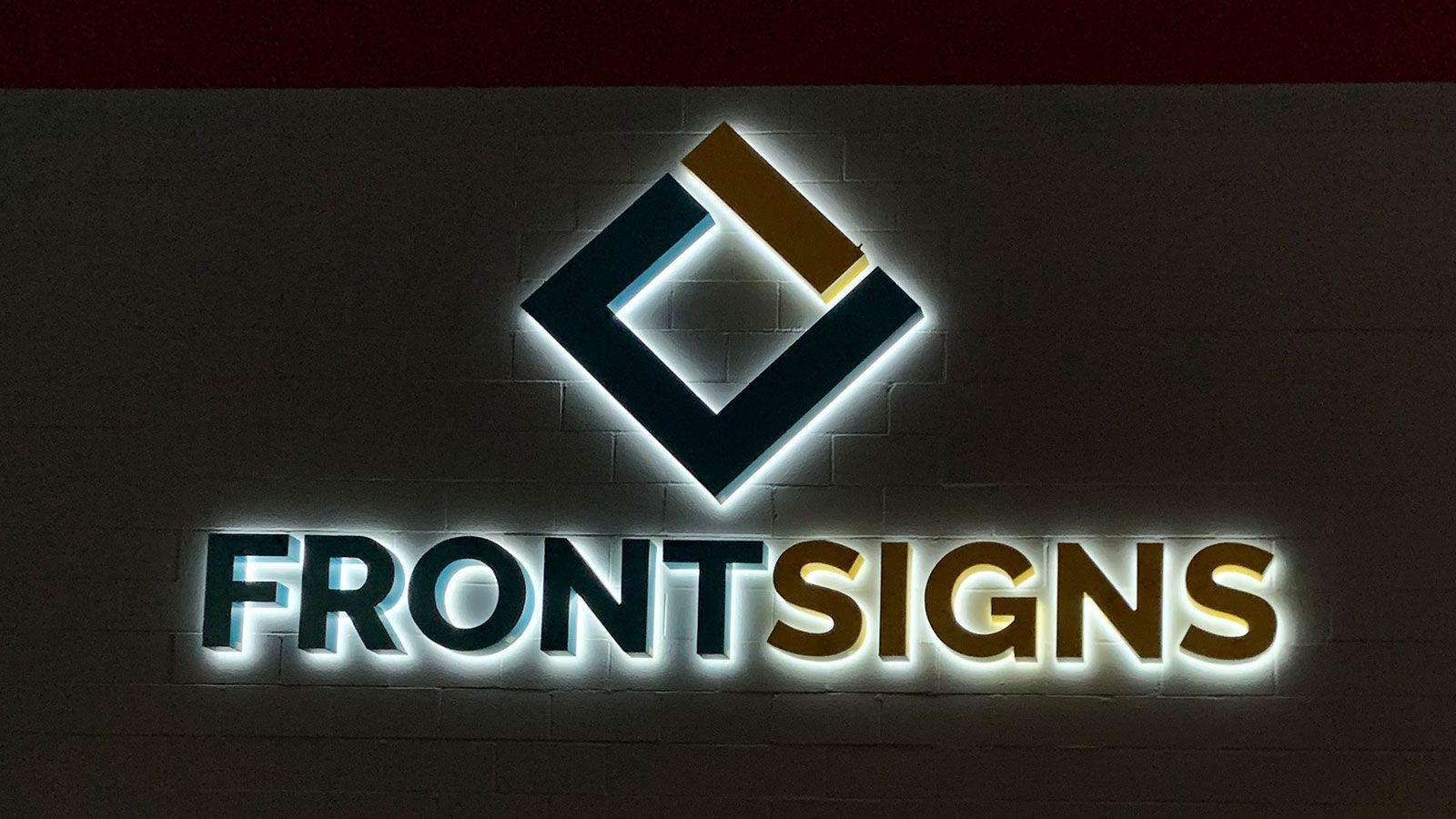 Front Signs backlit letters
