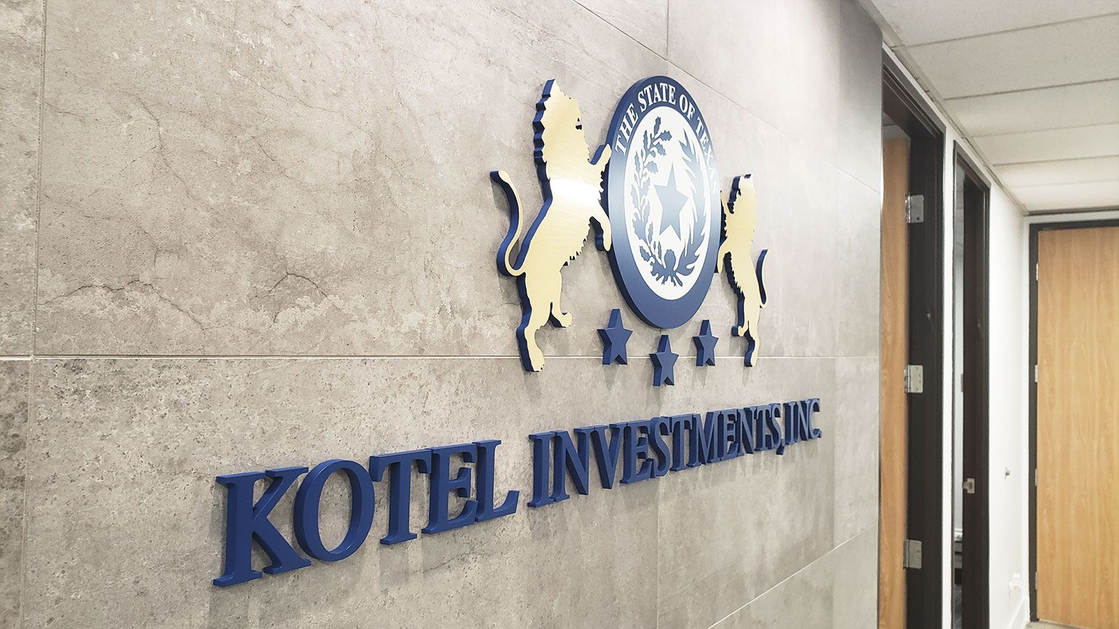 Kotel investments 3d letters