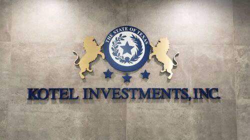 Kotel investments 3d logo sign