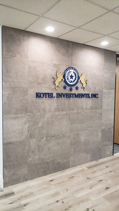 Kotel investments office sign