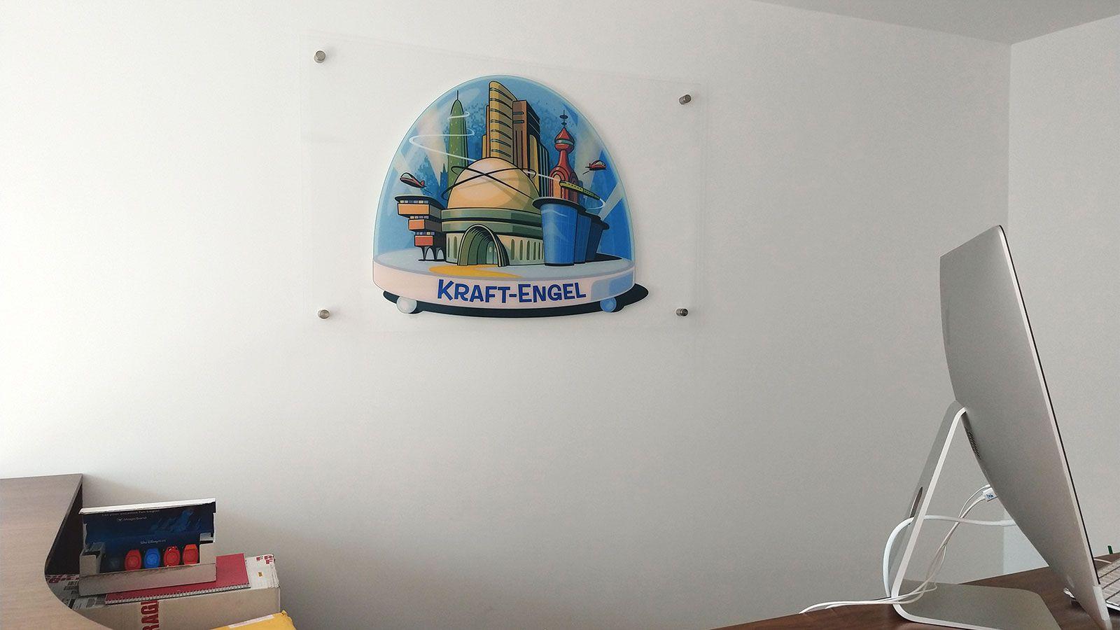 Kraft-Engel acrylic sign