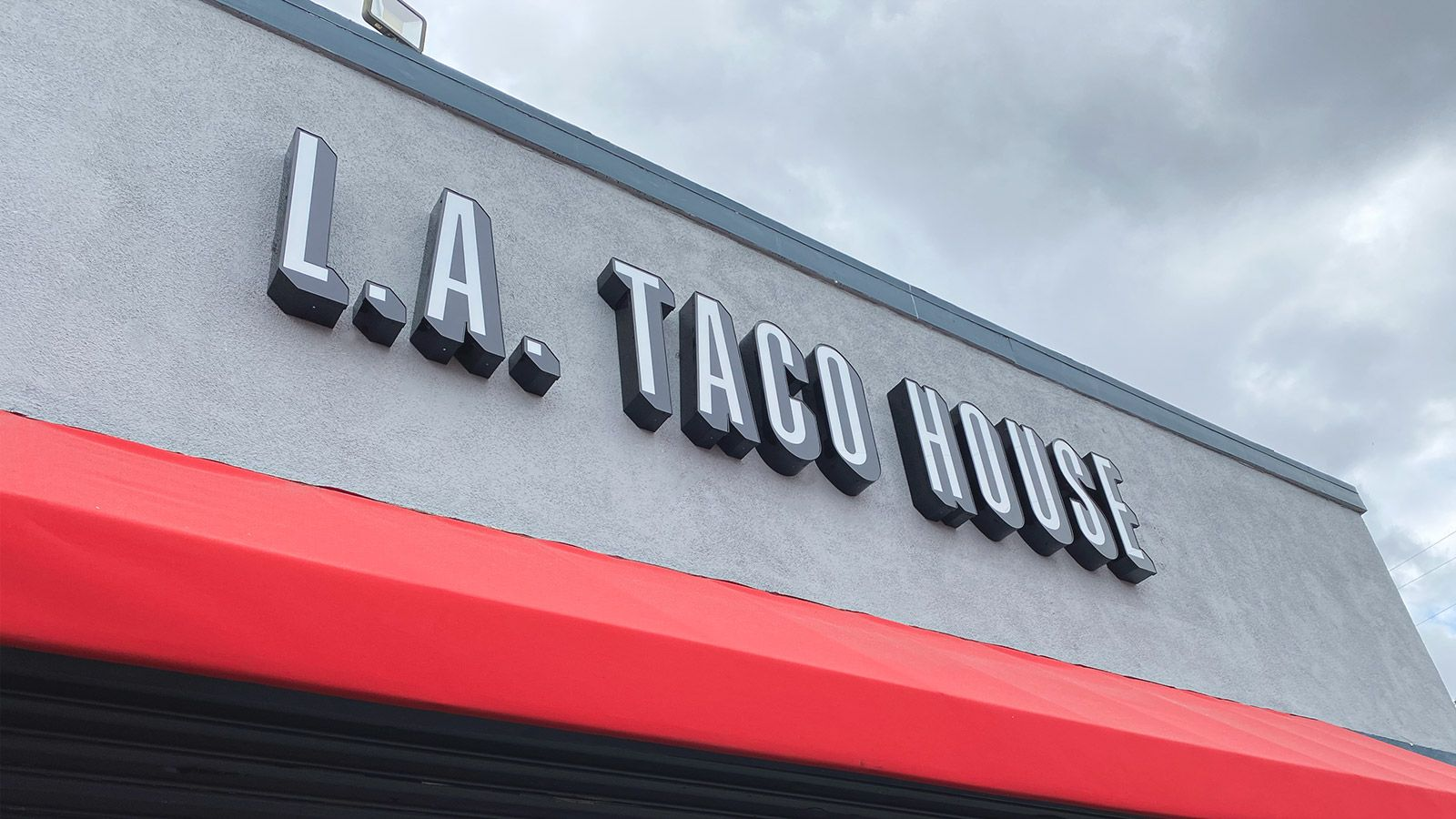 LA taco house LED sign